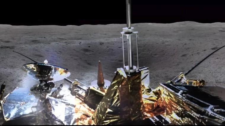 Фото на360°: китайский аппарат показал, как выглядит темная сторона Луны