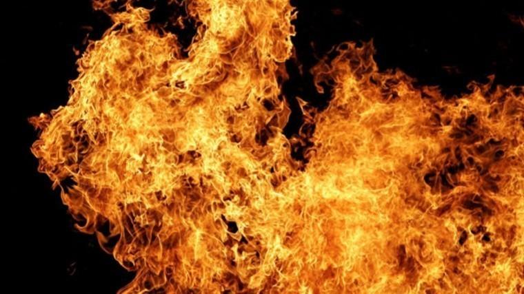 Видео— Пожар наАЗС вПодмосковье