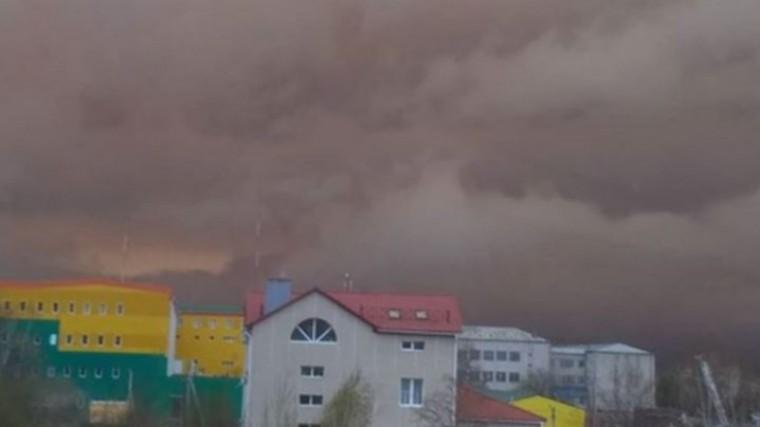 Дым отлесного пожара накрыл город вХабаровском крае