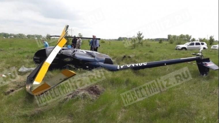 Вертолет «Робинсон-44» совершил жесткую посадку вВоронежской области