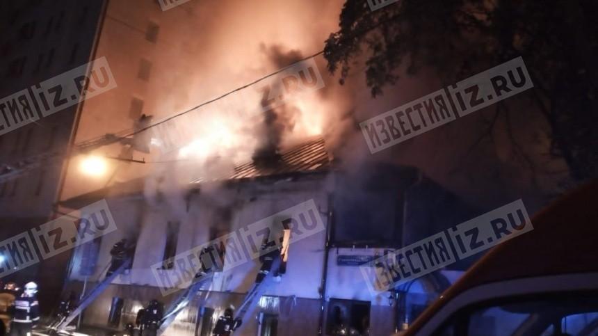 Ресторан полыхает вцентре Москвы— видео