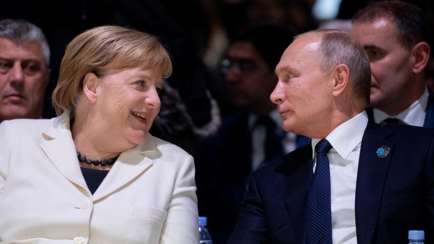 меркель путин германии поздравил тепло