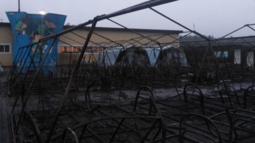 Названа предварительная версия пожара впалаточном лагере вХабаровском крае