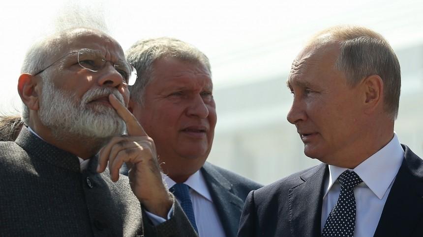 Какие темы Путин иМоди обсудили наВосточном экономическом форуме