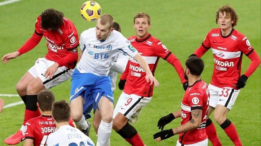 «Спартак» и«Динамо» сыграли вничью вматче 15-го тура РПЛ