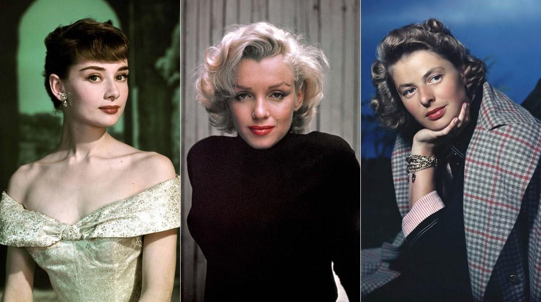 Слева направо: Одри Хепберн, Мэрилин Монро,