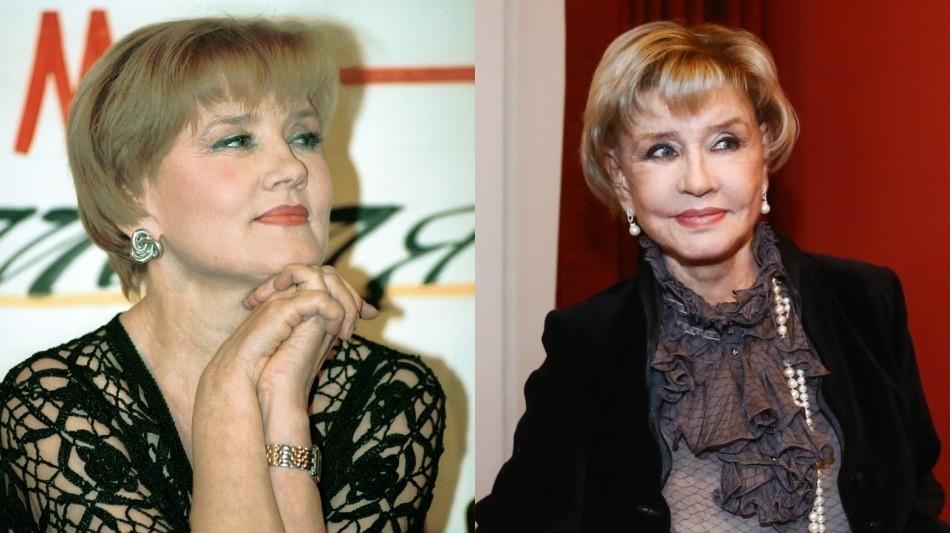 Слева направо: Вера Алентова в 1998-м и 2018-м
