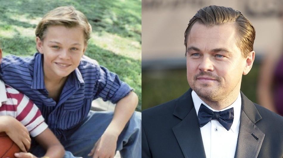 Слева направо: актер Леонардо Ди Каприо в детстве и сейчас