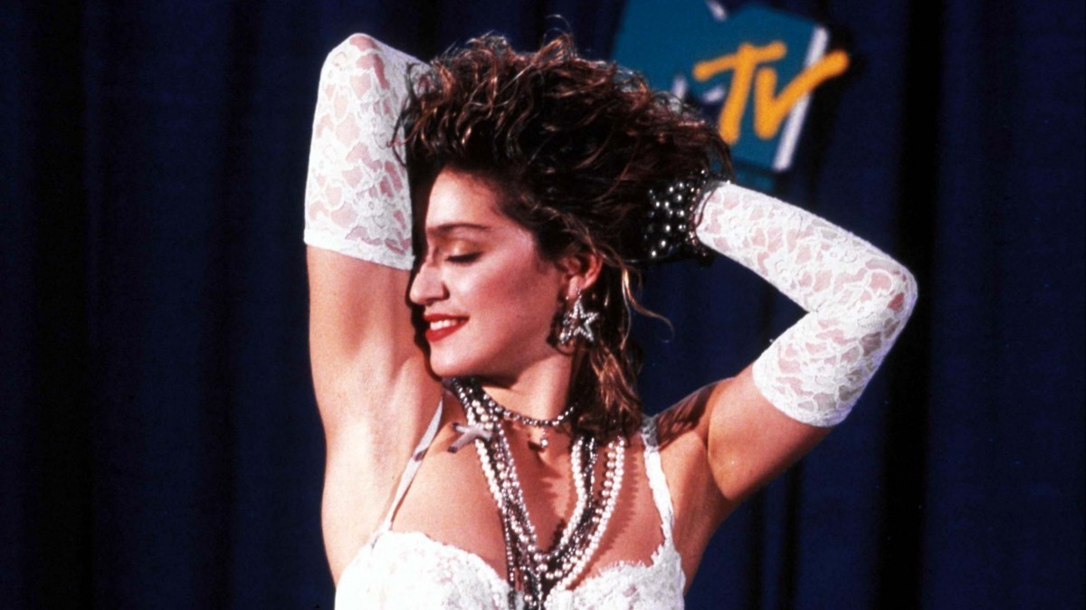 Певица Мадонна на церемонии MTV Music Awards в 1984-м