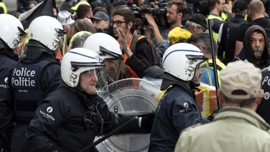 Протесты против произвола полиции в Брюсселе переросли в беспорядки