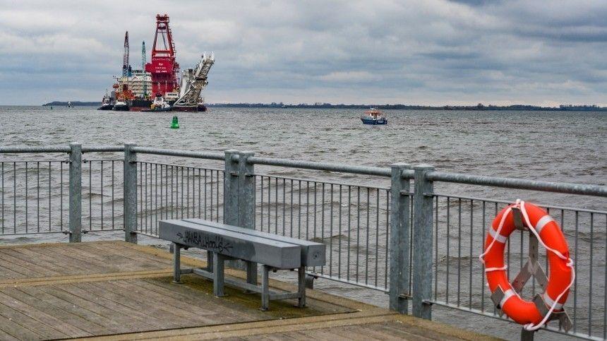Строительство «Северного потока — 2» в водах Дании…