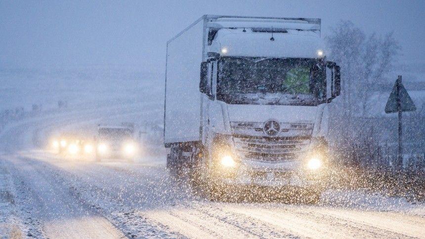 Репортаж из снежного плена: группа МИЦ  Известия  заблокирована на трассе …