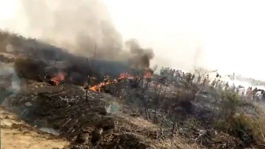 Военный самолет King Air   потерпел крушение в…