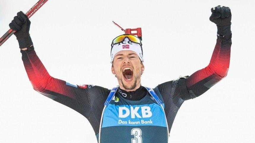 Российские биатлонисты не смогли завоевать медали в масс-старте на…
