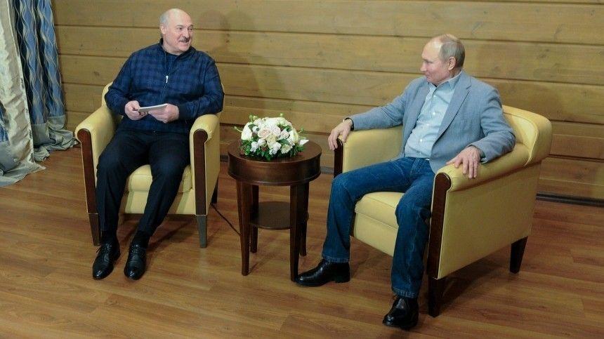 Видео: встреча Путина и Лукашенко в Сочи длилась более шести…