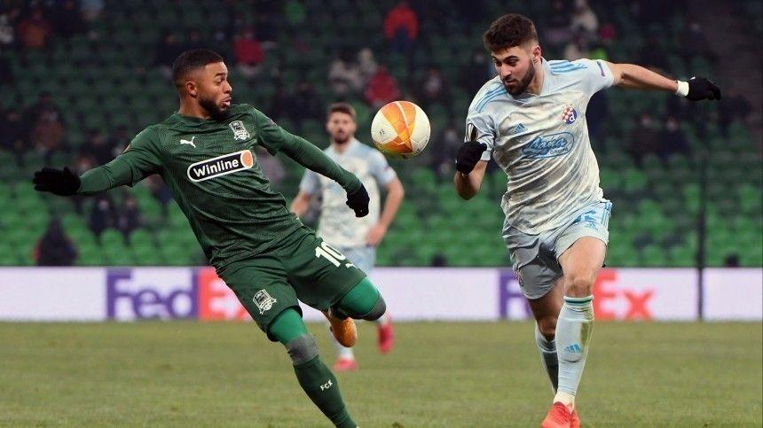 Краснодар  вылетел из Лиги Европы после проигрыша загребскому  Динамо…