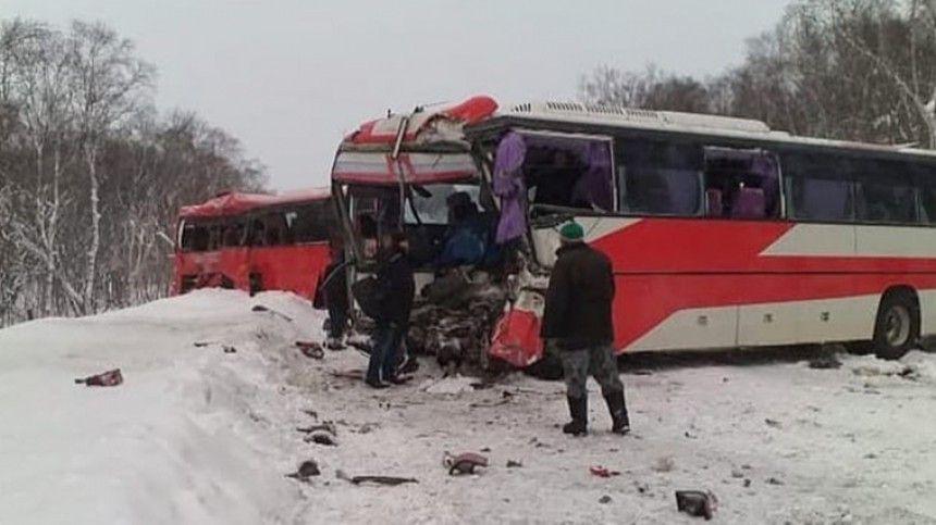 Два человека погибли, восемь пострадали в ДТП с автобусами на…