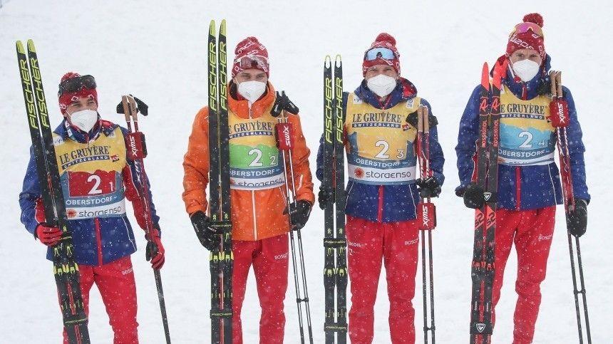 Российские лыжники завоевали серебро в эстафете на чемпионате…