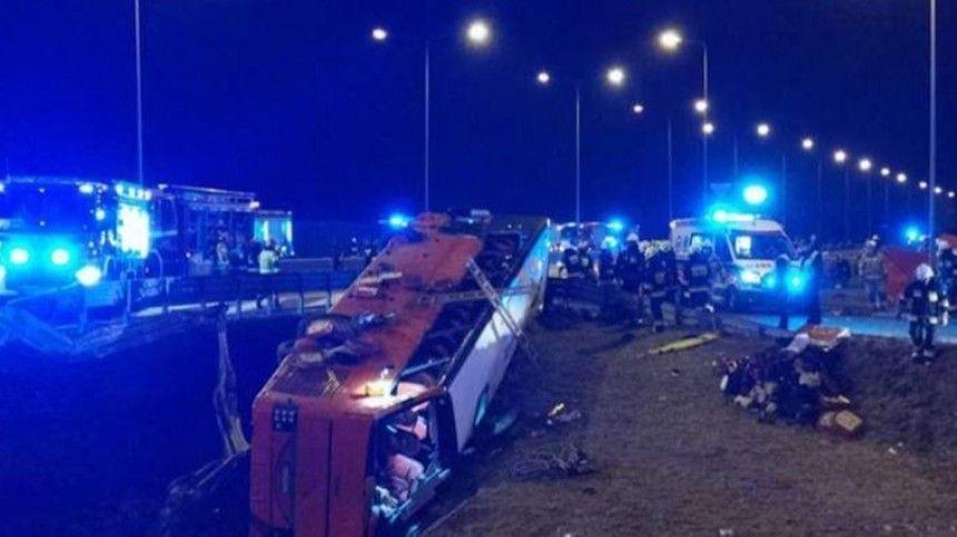 Шестеро украинцев погибли в ДТП с автобусом в…