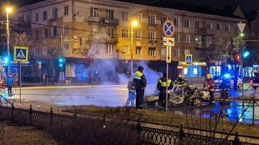 В Калининграде водитель устроил огненное смертельное ДТП  жуткие кадры