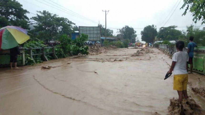 Более 50 человек погибли в результате наводнения и оползней в Индонезии  видео