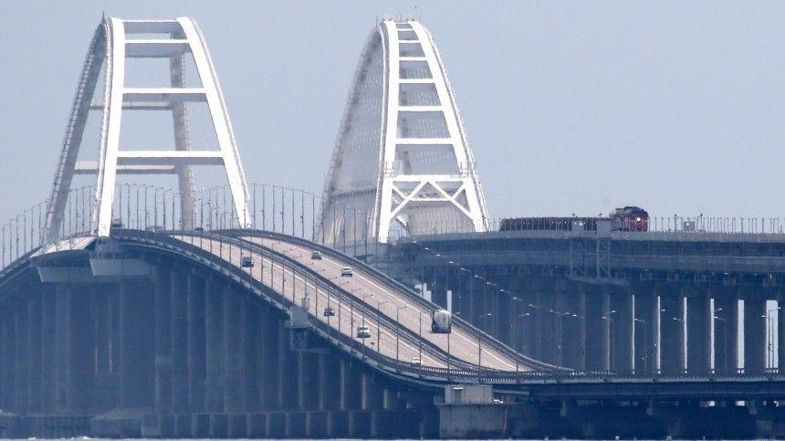 ВВашингтоне считают что причастные кстроительству моста вКерченском проливе лица икомпании якобы нарушили суверенитет Украины.