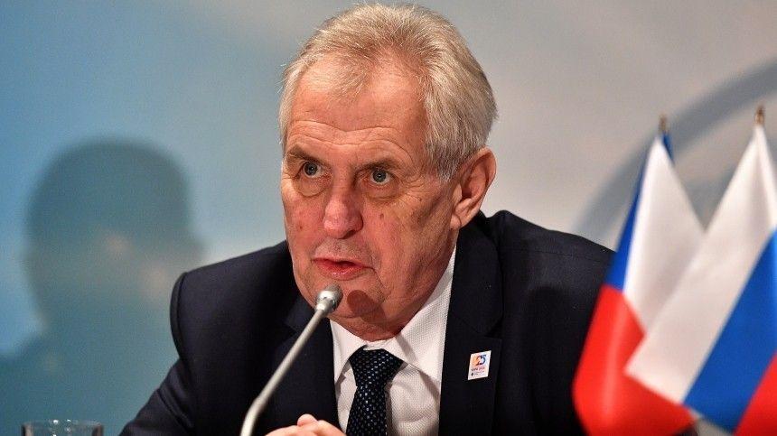 Президента Чехии обвинили в раскрытии данных расследования о взрывах в Врбетице