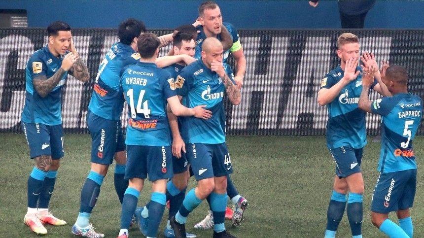 Матч прошел наполе сине-бело-голубых вПетербурге.