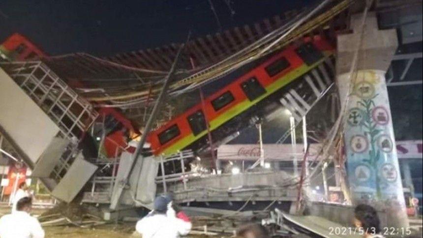 Видео: 15 человек погибли в результате крушения метромоста в столице Мексики