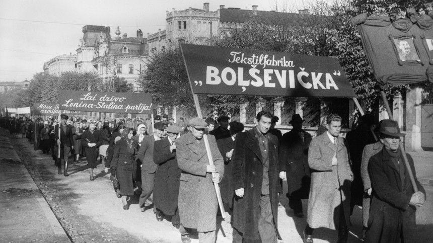 Разгром нацизма латышам «непринес освобождения», заявил Эгилс Левитс.