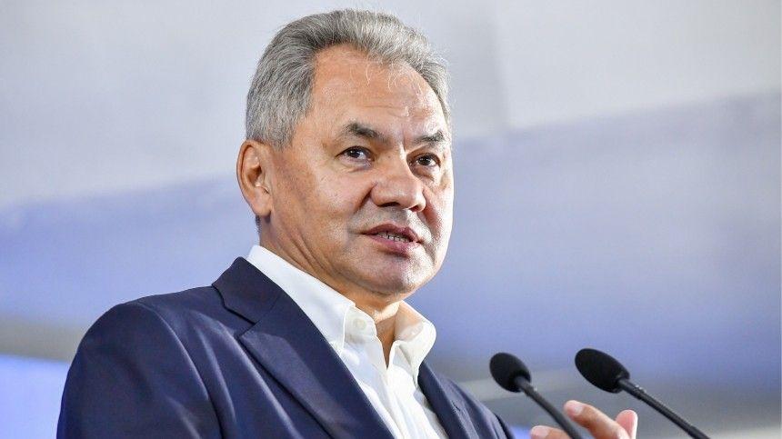 Министр обороны РФпредставил намероприятии свои картины иподелки издерева.