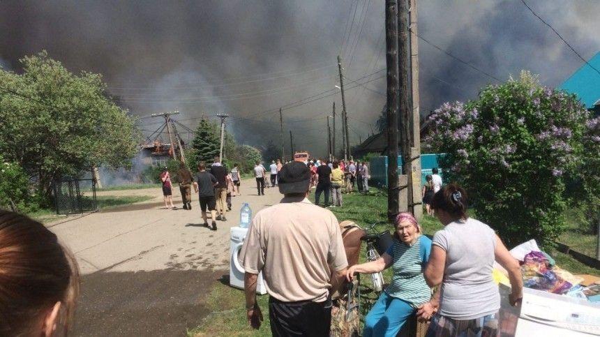Впоселке Майна загорелся склад сопилками натерритории бывшего лесокомбината, атакже два жилых дома, три нежилых дома инадворные постройки