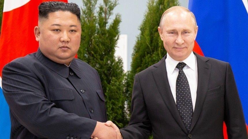 Лидер КНДР пожелал Москве развивать отношения сПхеньяном.