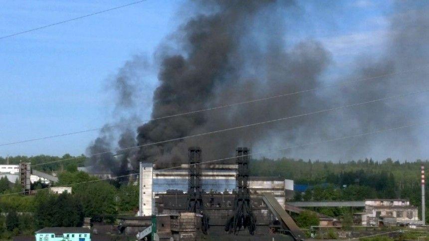 Попредварительным данным, возгорание произошло вглавном цехе, где вспыхнул реагент.