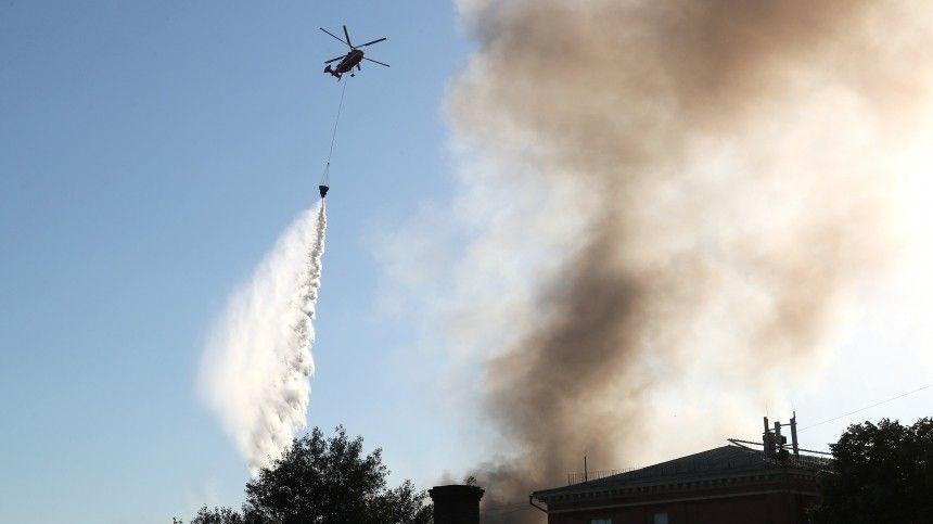 Внастоящий момент пожар локализован наплощади в500 квадратных метров.