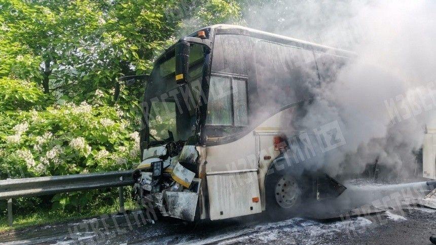 Также вкраевую больницу доставлен водитель автобуса.