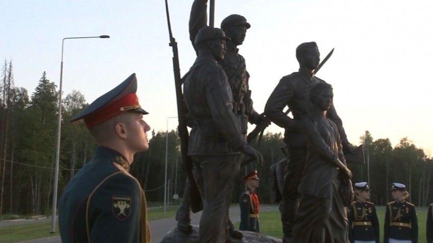 Шойгу в Подмосковье принял участие в открытии Аллеи Союзников советского народа в войне