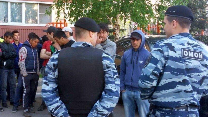 Массовую драку устроили в Москве около 200 мигрантов  видео