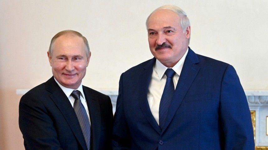 Встреча глав России иБелоруссии вПетербурге длилась более пяти часов.