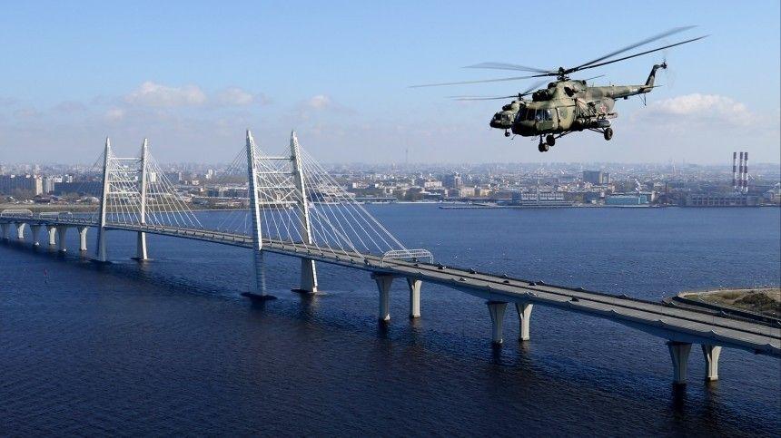 Репетиция воздушной части парада ВМФ прошла в Петербурге  видео