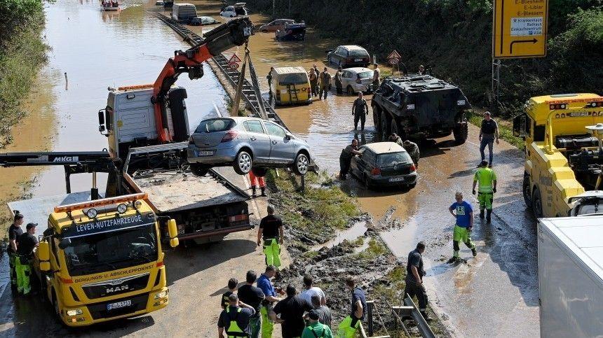Сильные ливни, приведшие кстихийному бедствию, продолжаются вГермании с11июля из-за циклона «Бернд».