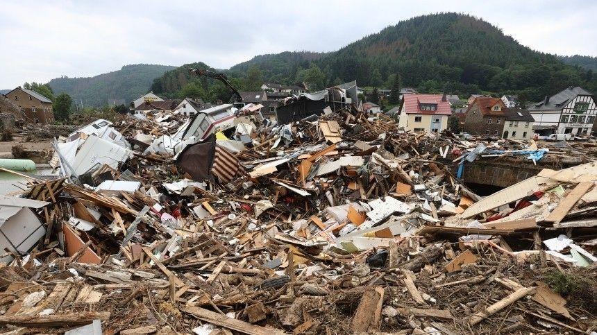 В Европе подсчитали предварительную сумму ущерба от наводнения в ФРГ