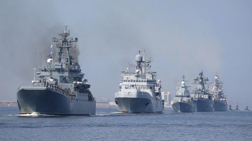 Главный торжественный смотр пройдет вПетербурге вчесть 325-летия российского флота.