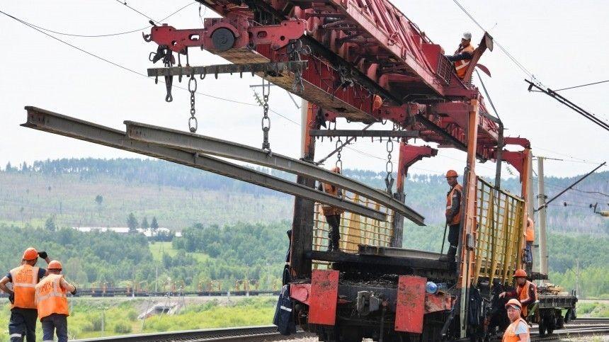 Восстановлено движение поодному пути железнодорожного моста наТранссибирской магистрали вЗабайкалье. Онрухнул из-за непрекращавшихся ливней.