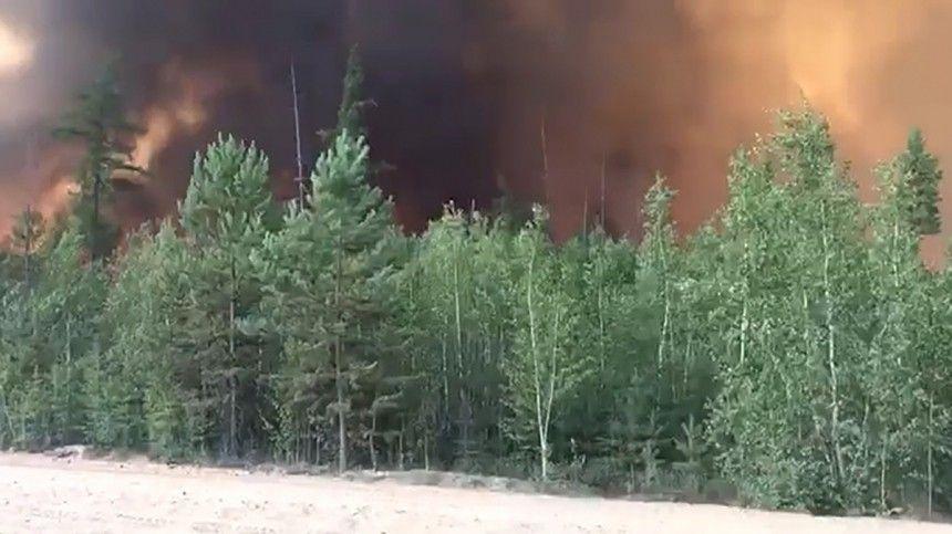 Спомощью взрывов спасатели Якутии борются слесными пожарами
