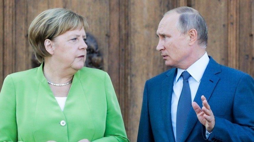 Меркель на встрече с Путиным: Этой мой прощальный визит