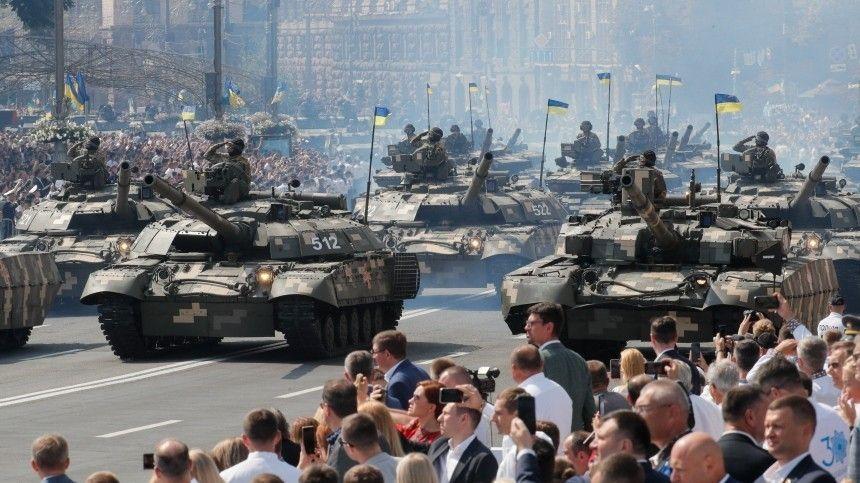 Страна отмечает 30-летие суверенитета спосле распада СССР масштабным мероприятием вКиеве.