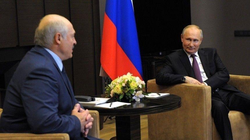 Путин обсудил дальнейшее сотрудничество с Лукашенко