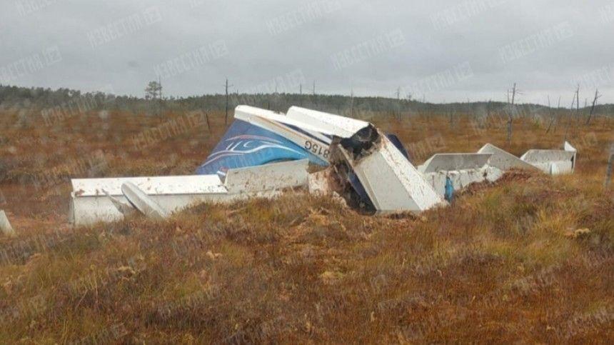 Врезультате авиакатастрофы погибли два человека.