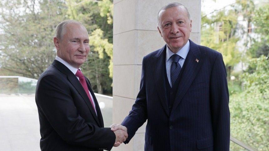Путин поблагодарил Эрдогана за поддержку позиции по Турецкому потоку